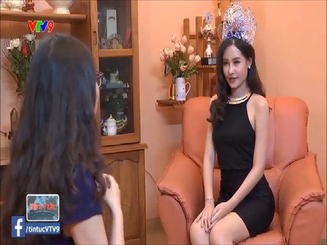 Tân Hoa hậu Đại dương trong buổi phỏng vấn mới