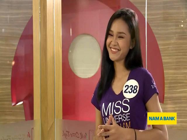 Thí sinh Hoa hậu Hoàn vũ nói tiếng Anh ngây ngô khiến giám khảo phì cười