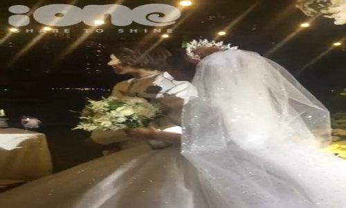 Kelvin Khánh - Khởi My hôn nhau 'không ngừng' trong tiệc cưới