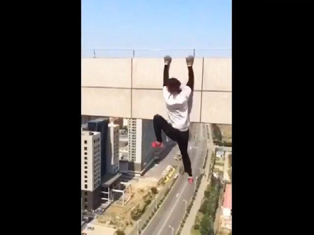 Nam diễn viên Trung Quốc mất mạng khi quay clip mạo hiểm trên cao