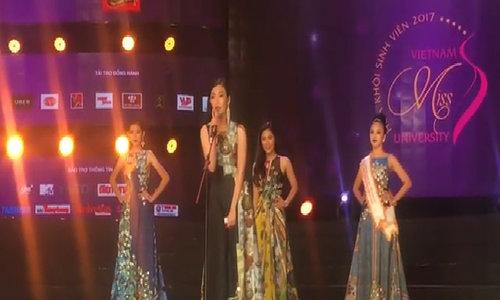Nữ sinh Tây Đô cao 1m74 đăng quang Hoa khôi Sinh viên Việt Nam