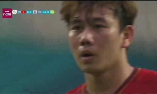 Xem lại siêu phẩm ghi bàn của Minh Vương vào lưới Olympic Hàn Quốc