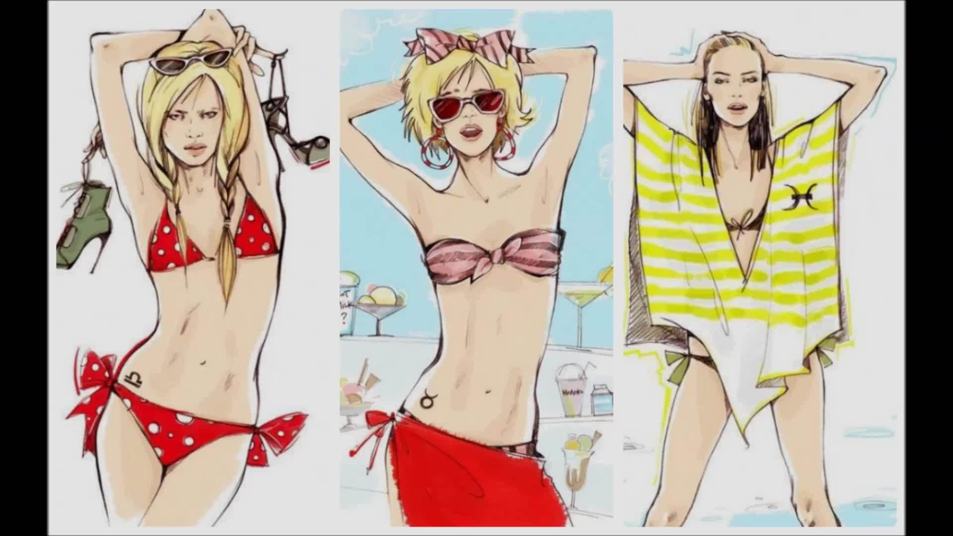 Khi 12 chòm sao diện bikini đi biển