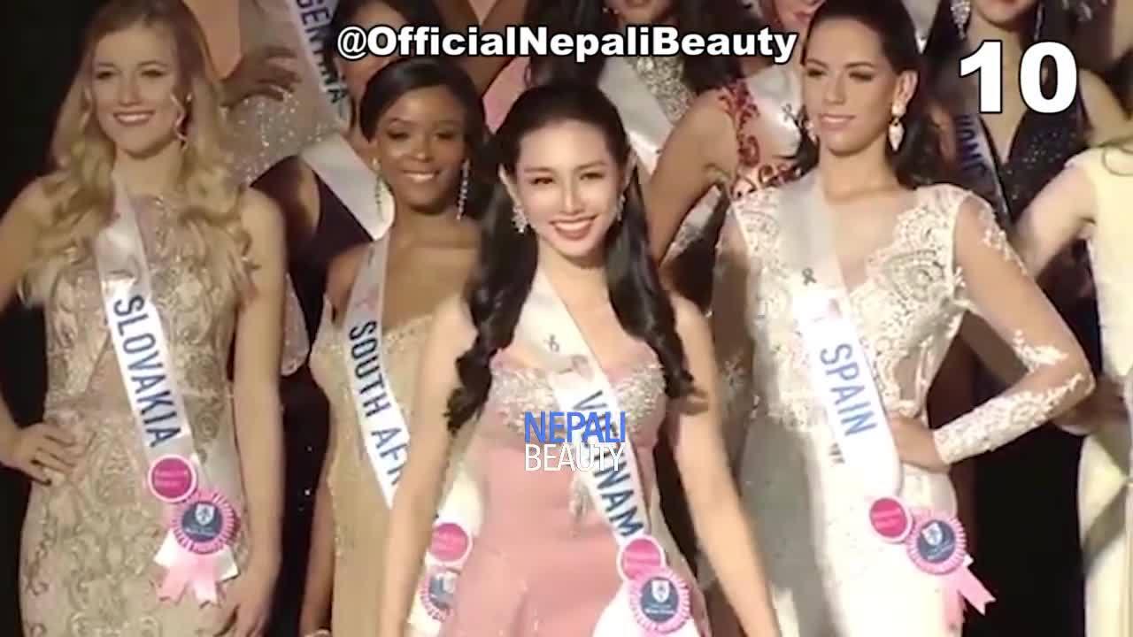 Trang phục dạ hội của Thùy Tiên ở Miss International 2018 lọt vào top 10