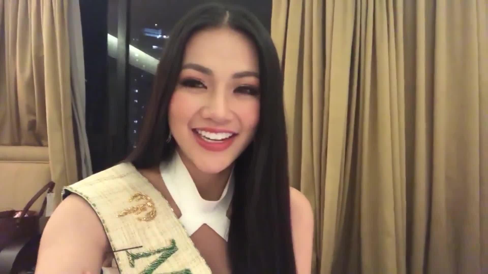 Hoa hậu Trái đất Phương Khánh chia sẻ cảm xúc sau đăng quang