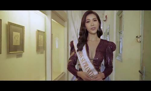 Minh Tú khoe thích chạy xe máy, nuôi cún trong clip giới thiệu ở Miss Supranational