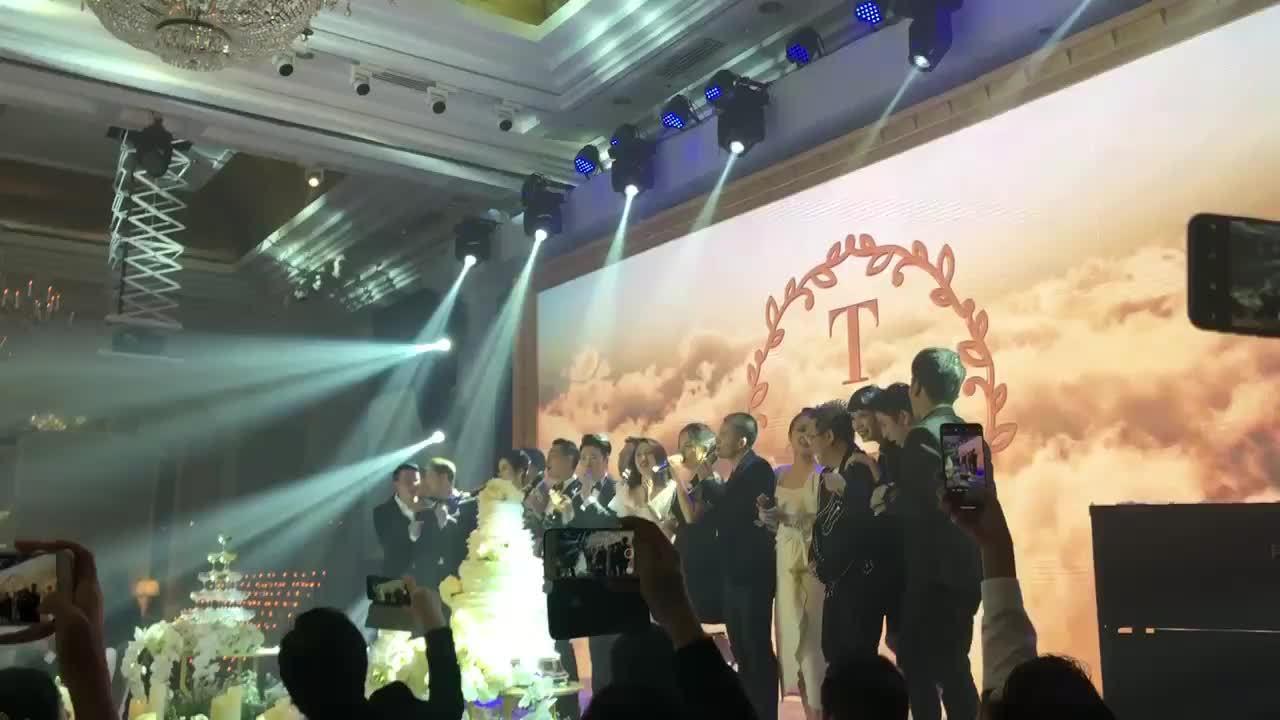 Các nghệ sĩ hòa giọng trong đám cưới Lê Hiếu