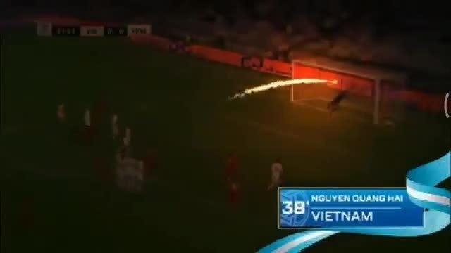 Bị chỉ trích, AFC gỡ bỏ clip cú sút phạt 'tên lửa' của Quang Hải