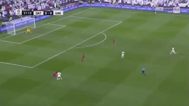 Pha mở tỷ số của Qatar trước UAE ở bán kết Asian Cup 2019