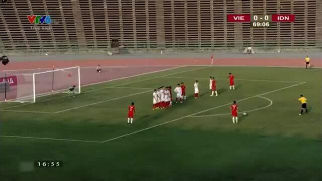 Pha sút phạt của Indonesia khiến Việt Nam phải nhường vé chơi chung kết