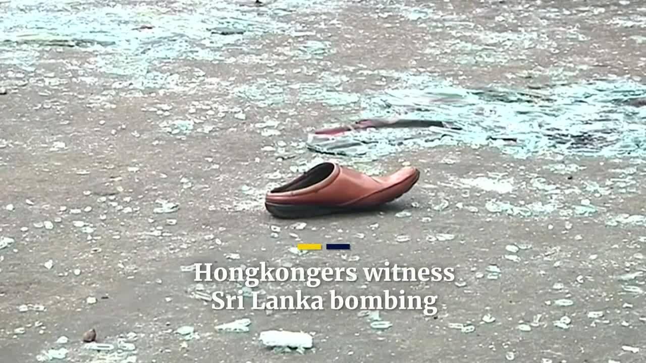 Hiện trường vụ đánh bom Sri Lanka