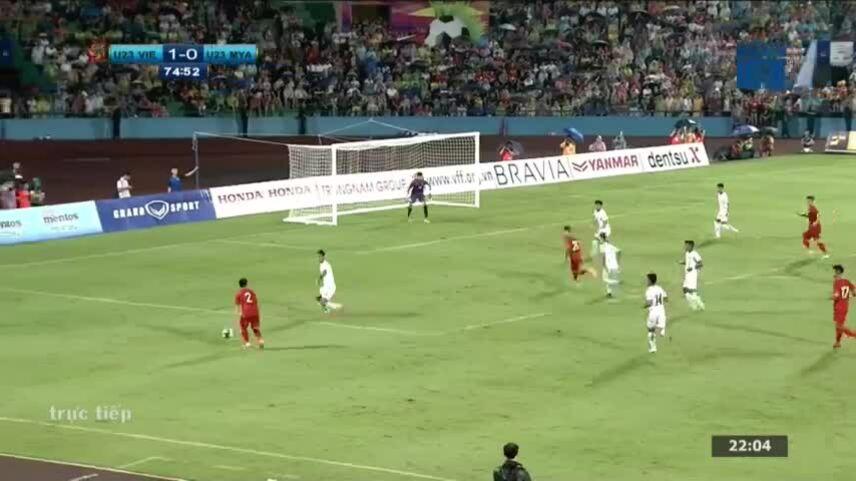 Bàn thắng đẹp mắt của Tiến Linh nâng tỉ số cho ĐT U23 Việt Nam