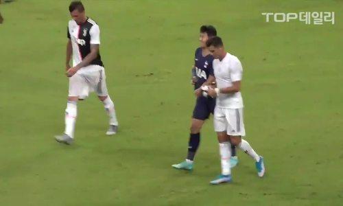 Son Heung-min đổi áo đấu cho Ronaldo rồi...đem lau mặt