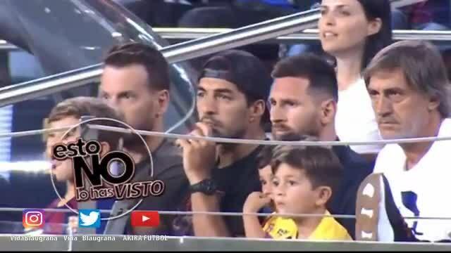 Khoảnh khắc con trai Messi ăn mừng đội bố sút hỏng hút 14 triệu lượt xem