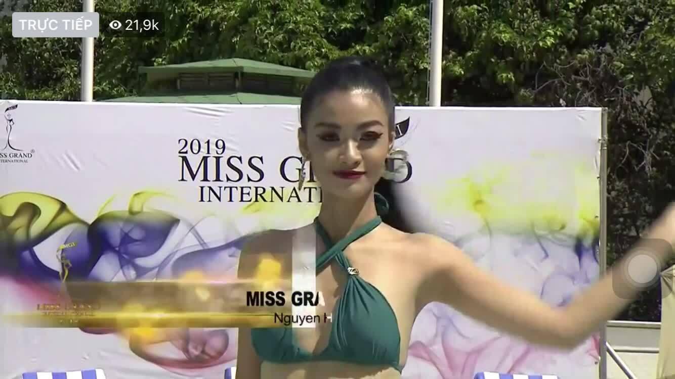 Kiều Loan tự tin diễn bikini ở Miss Grand International
