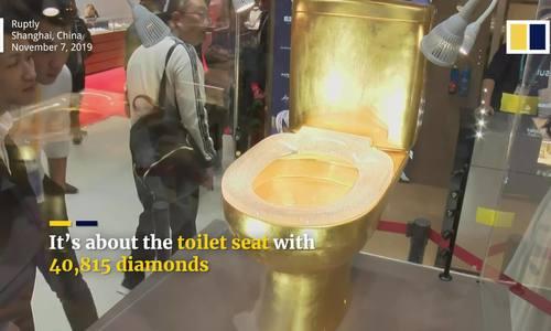 Bồn cầu nạm hơn 40.000 viên kim cương