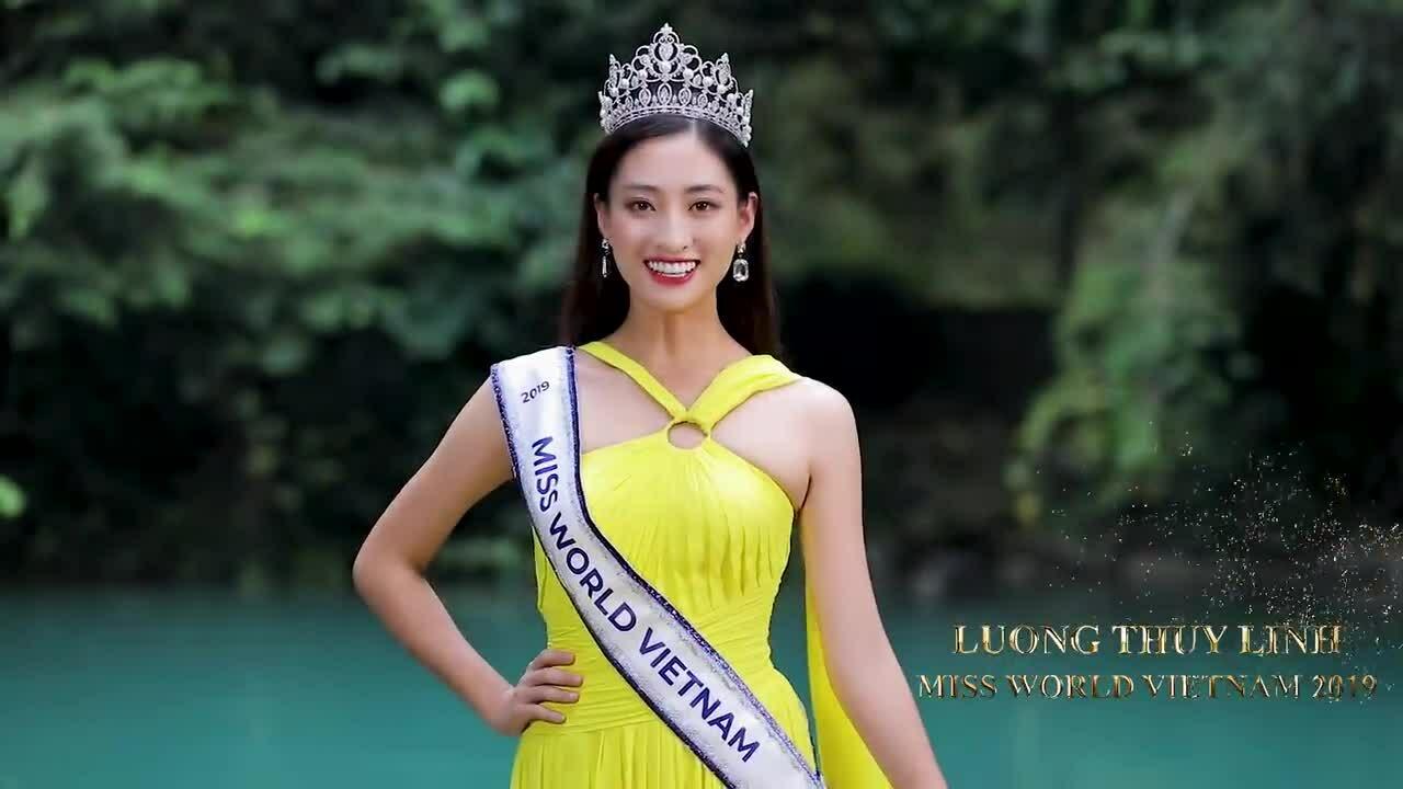Lương Thùy Linh nói tiếng Anh lưu loát trong clip gửi Miss World