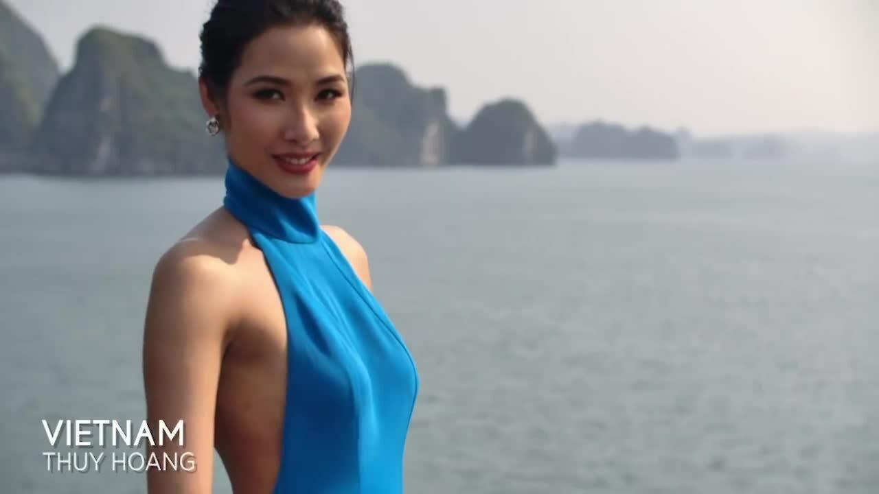 Hoàng Thùy trong clip giới thiệu của Miss Universe