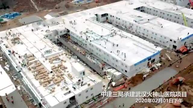 Xây dựng bệnh viện ở Vũ Hán