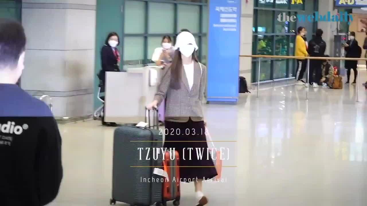 Tzuyu về Hàn Quốc sau thời gian cách ly