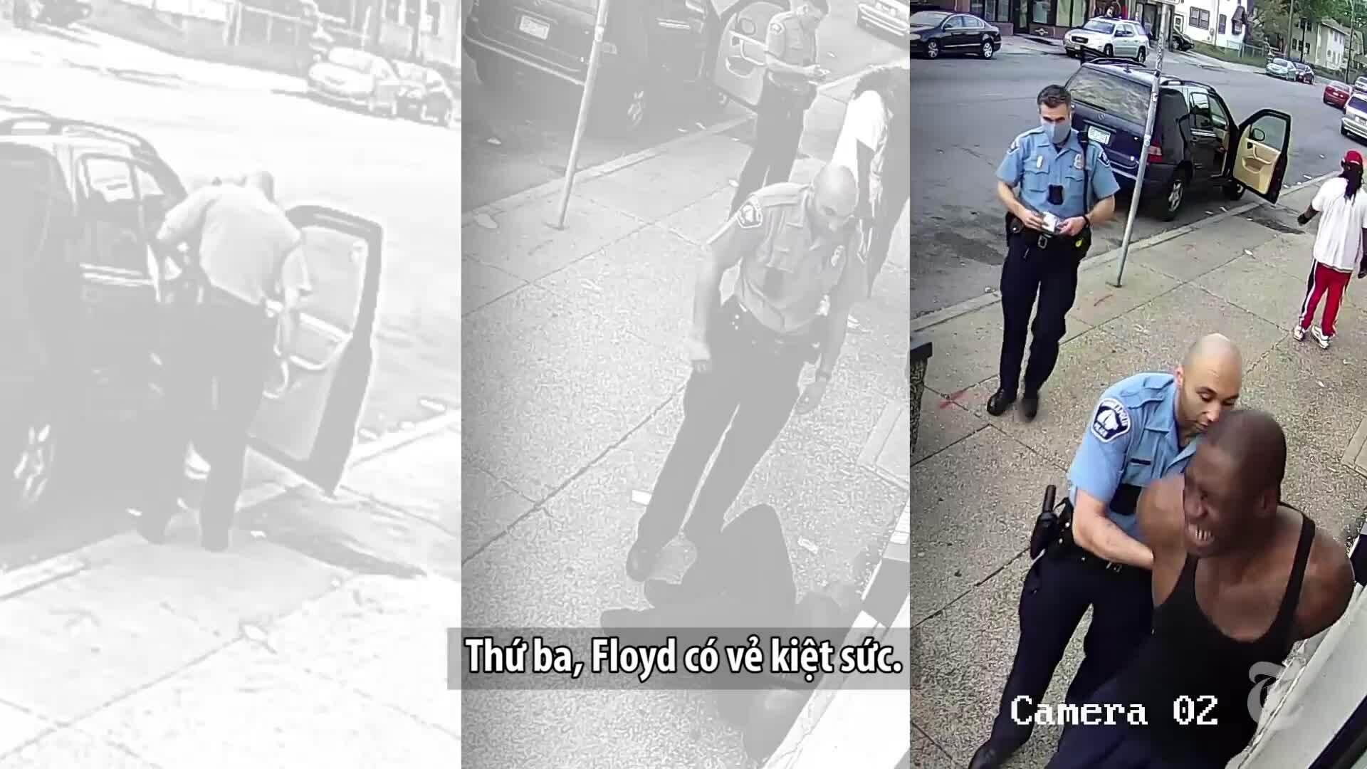 8 phút 46 giây: George Floyd bị giết trong lúc cảnh sát ghì cổ như thế nào?