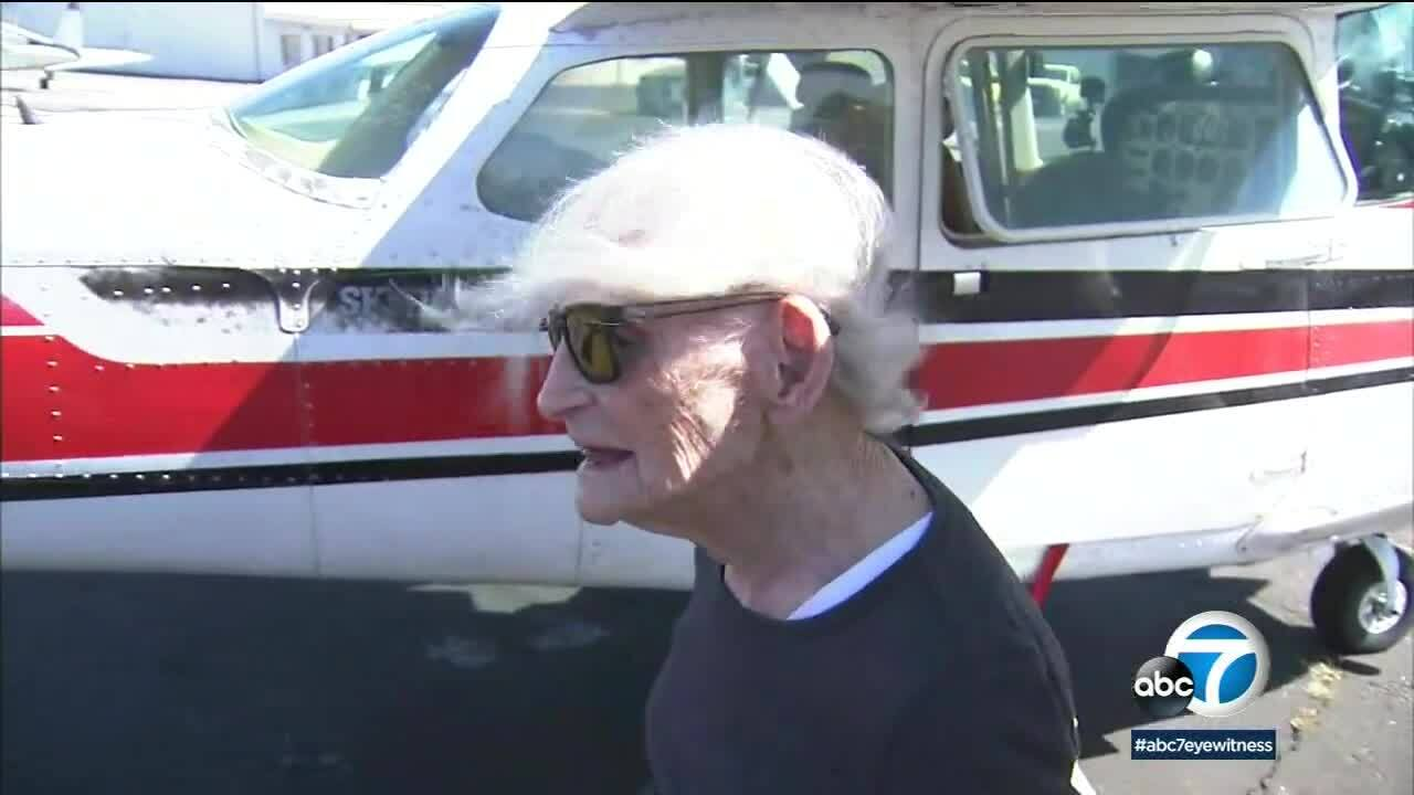 Cụ bà 99 tuổi lái máy bay