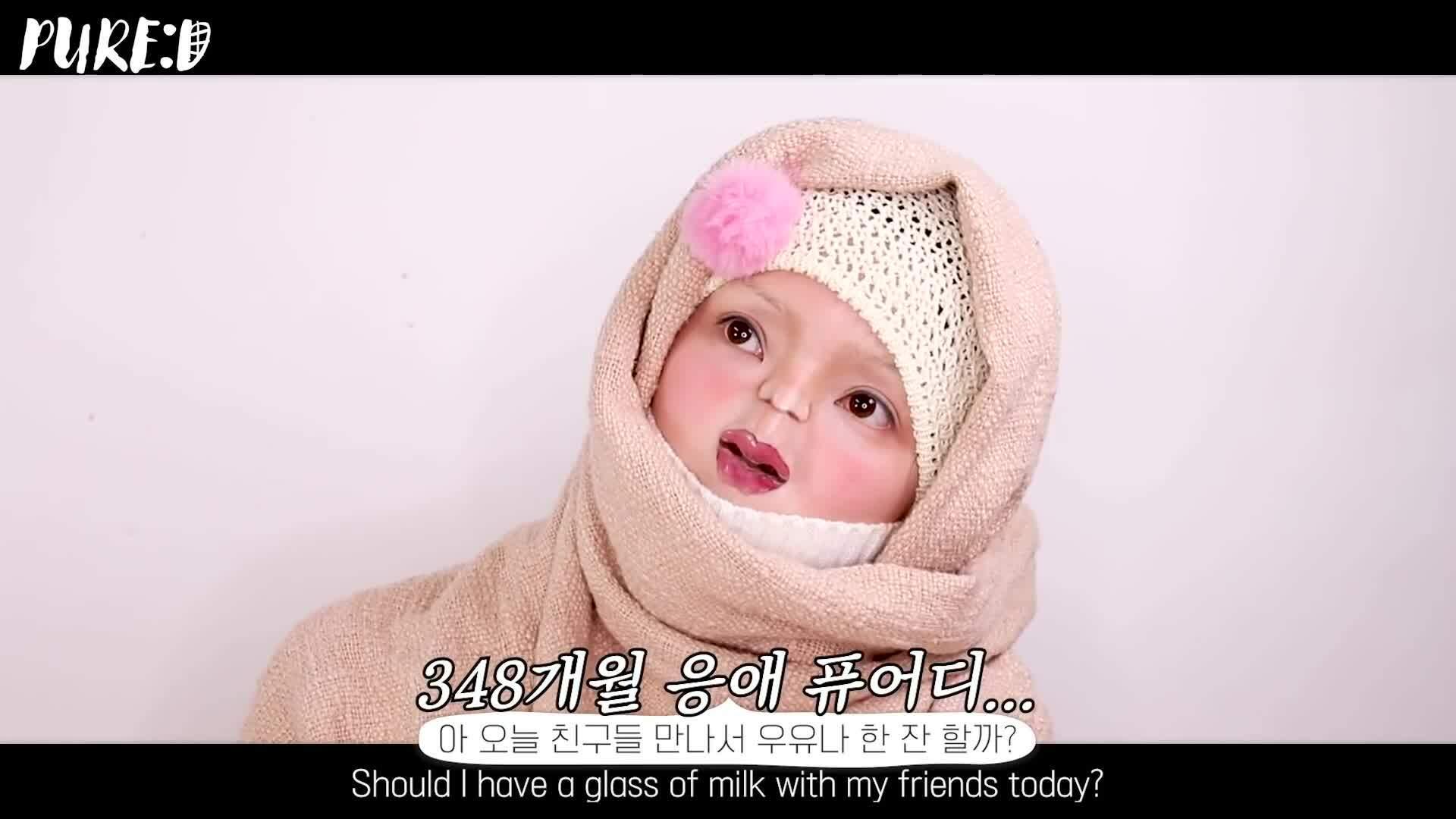 Màn hóa trang thành em bé của nữ Youtuber Hàn Quốc gây 'sang chấn tâm lý'