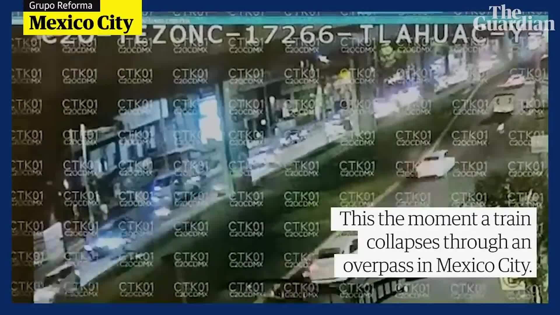 Hiện trường kinh hoàng vụ sập cầu Mexico 20 người chết