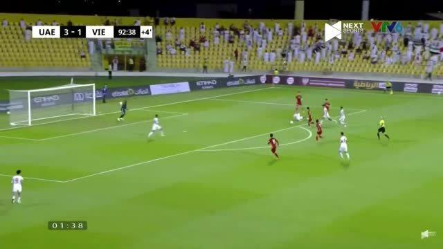 Bàn thắng bất ngờ của Minh Vương trước UAE