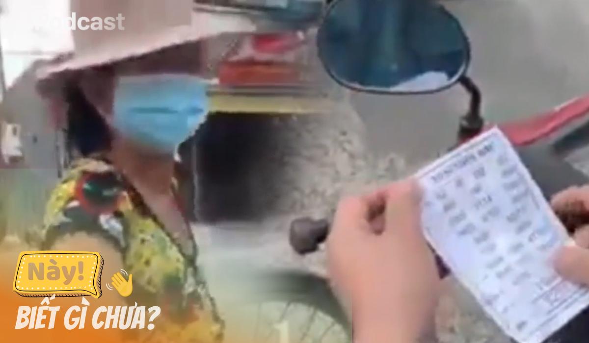 Bị hỏi giấy thông hành, cụ bà đưa lộn giấy đánh đề cho cán bộ