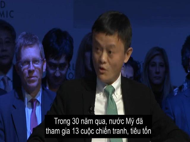Jack Ma cho rằng Mỹ đổ lỗi nước khác ăn cắp việc làm là sai lầm