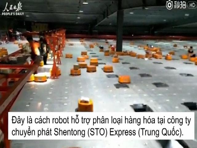 'Đội quân robot' phân loại 200.000 kiện hàng mỗi ngày ở nhà máy Trung Quốc