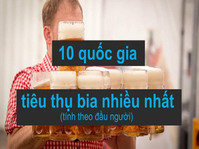 10 nước tiêu thụ bia nhiều nhất thế giới