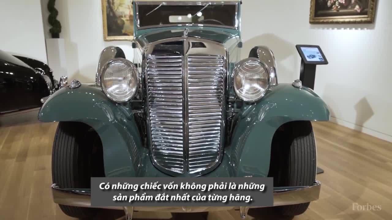 Kho siêu xe cổ triệu đô tại trụ sở đại gia đấu giá Sotheby's