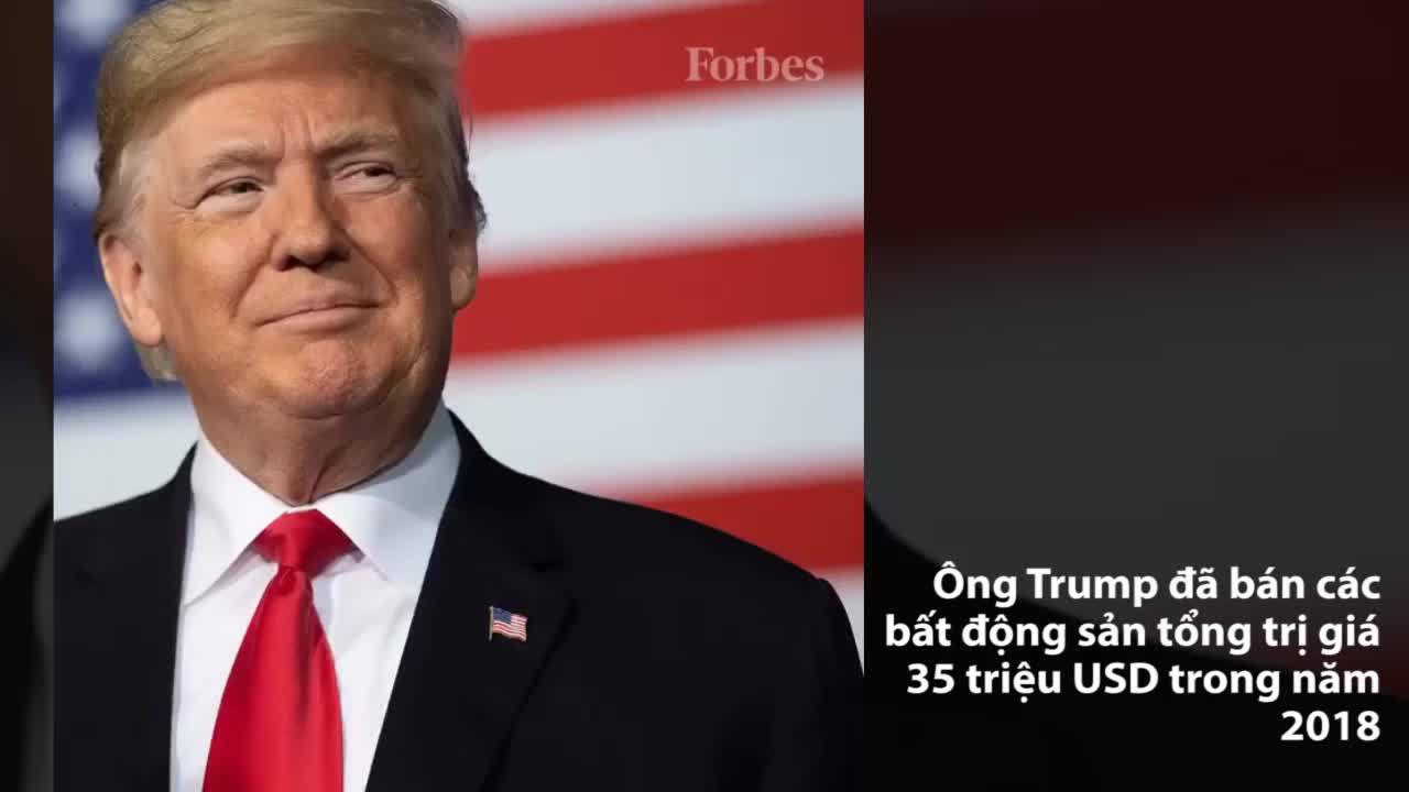 Trump kiếm 35 triệu USD tiền thanh lý nhà đất trong năm 2018