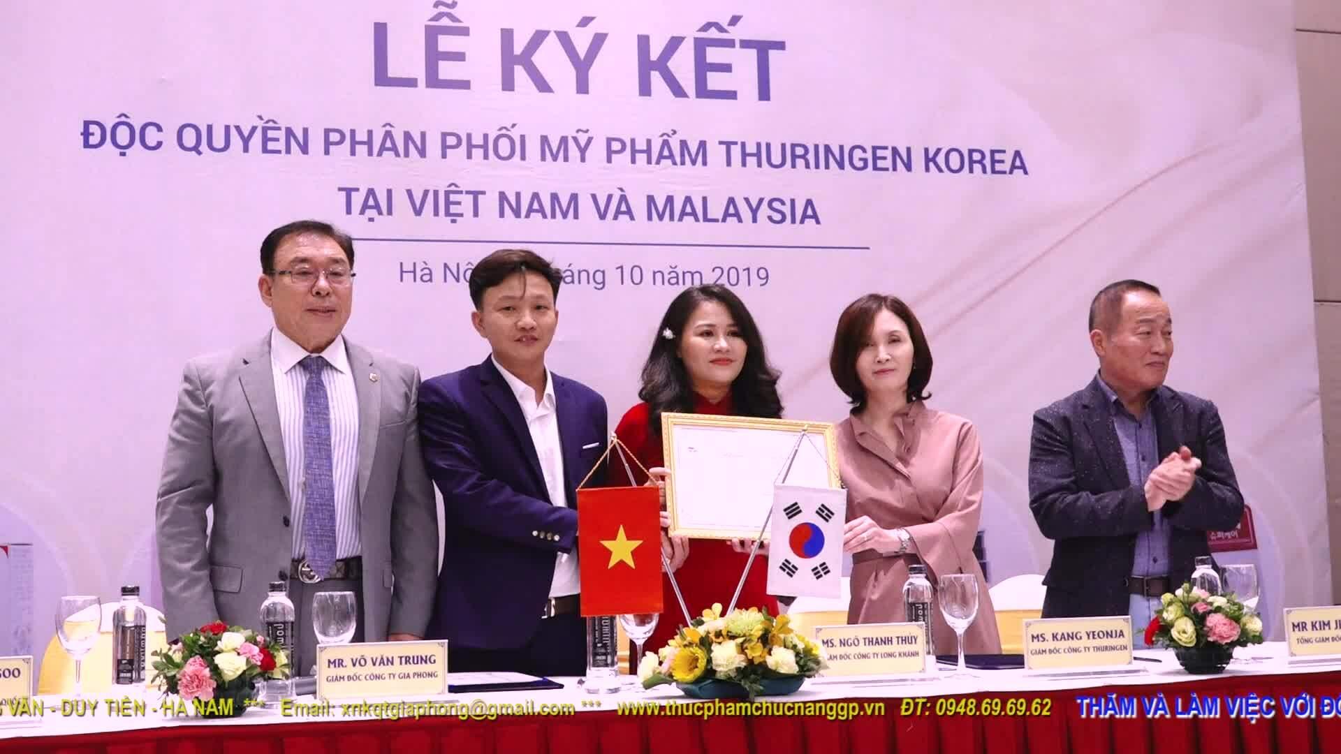 Gia Phong nhập khẩu mỹ phẩm Thuringen Korea