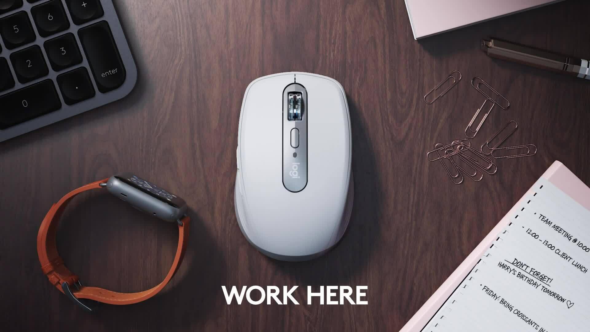 Logitech Anywhere 3 hỗ trợ người dùng làm việc ở bất cứ đâu