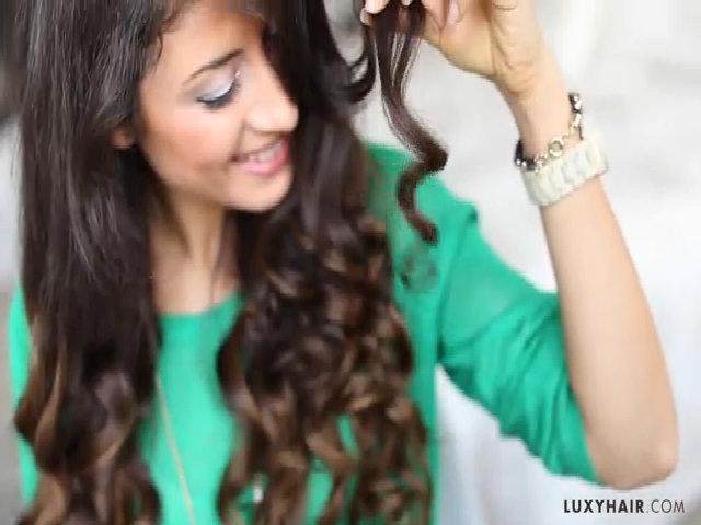 Cách làm tóc xoăn bằng kẹp ghim