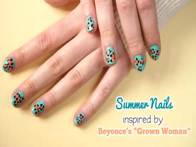 Nail da báo xanh mát lấy cảm hứng từ Beyonce