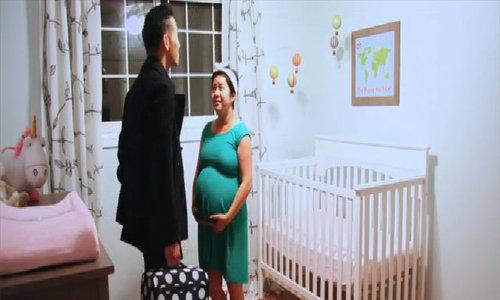Video timelaspe ghi lại quá trình mang thai của vợ
