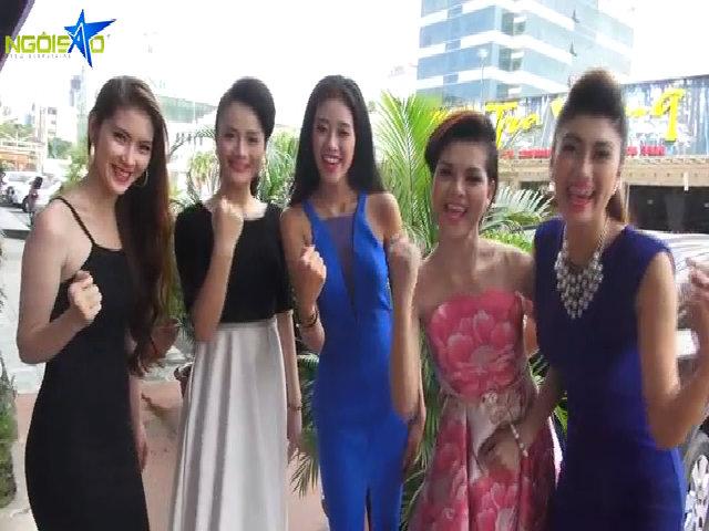 Nhóm 1 Miss Ngôi Sao hồi hộp trước đêm chung kết
