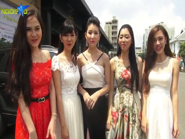 Nhóm 4 Miss Ngôi Sao chuẩn bị tinh thần trước đêm chung kết