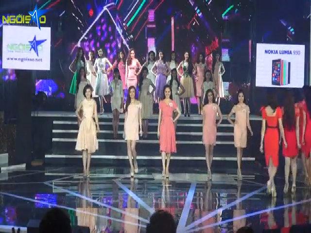 Miss Ngôi Sao trình diễn trang phục của NTK Lê Thanh Hòa