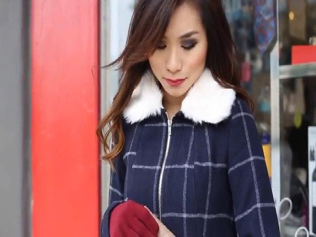 Phối đồ năng động với áo khoác mùa đông
