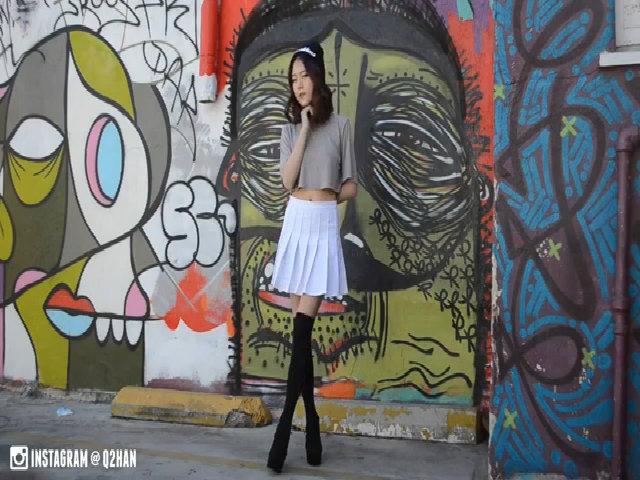 DIY chân váy xếp ly trẻ trung