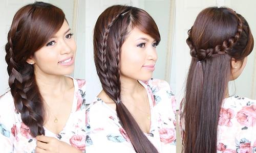3 kiểu tết xinh cho nàng tóc dài