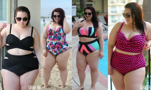 Nàng béo tự tin diện bikini màu sắc