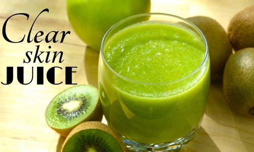 Thanh lọc da với nước ép táo - kiwi