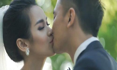 Tú Vi - Văn Anh lãng mạn trong clip cưới