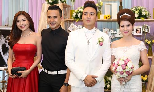 Bạn bè nghệ sĩ vui mừng tới chúc phúc cho vợ chồng Kha Ly